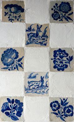 Blue & White Tiles on the External Wall of a Building in Évora, Portugal ....