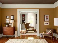Rote Wohnzimmer, Wohnzimmer Ideen, Selbstgemachte Wohnzimmer Dekoration,  Wohnräume, Warme Farben, Akzent Wandfarben, Farbschemen, Farbpaletten