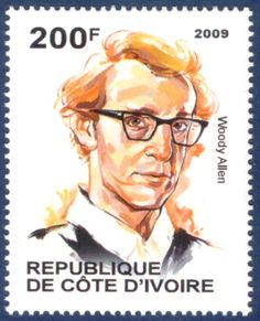 Cote D'Ivoire Stamp - Screenwriter, director, actor and comedian Woody Allen: Born in New York City.