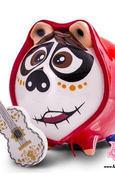 Piggy Banks, Skull, Ceramics, Christmas Ornaments, Holiday Decor, Crafts, Rustic Lamps, Diy Creative Ideas, Creativity