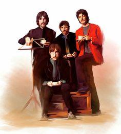 Beatles faces iPhone 5 wallpaper iPhone 6 Wallpapers