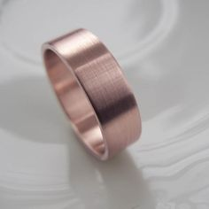 think i like the matt look - Rose Gold Mens Wedding Band x mm - Wide handmade eco-friendly recycled yellow gold ring - brushed finish - Modern, Simple via Etsy Wedding Men, Trendy Wedding, Dream Wedding, Wedding Shit, Gold Wedding, Rustic Wedding, Look Rose, Yellow Gold Rings, Rose Gold