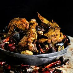 Crispy skin wings rolled in sichuan peppercorn and spices, then wok-ed with a mountain of smoky spicy chili and garlic.