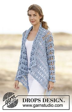 DROPS Crochet Spring Bliss Jacket free pattern: Ravelry
