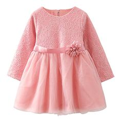 LittleSpring Little Girls' Dress Flower Zipper French Street Fashion, Flower Dresses, Street Styles, Little Girls, Girls Dresses, Zipper, Casual, Flowers, Stuff To Buy
