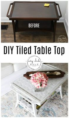 13 best stencil table top images painted furniture refurbished rh pinterest com