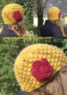 Le Fragole di Stoffa: Schema cappello di lana ai ferri a punto rosette o nocciolina. spiegazione