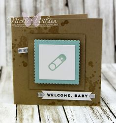 Nicole Wilson Independent Stampin' Up!® Demonstrator - Onstage Live Brisbane Display Board mini notecard welcome baby Sample using hostess set Iconic Occasions. www.facebook.com/NicoleWilsonStamp #stampinup #onstage2016 #brisbanelive