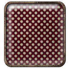 Granny Enchanted's Digital Scrapbook Library: Free Red Polka Square Digi Scrapbook Brad