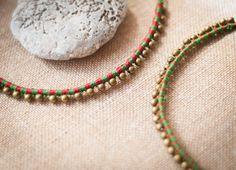 Gargantilla elf en macramé, gargantilla hippie, collar hippie, collar étnico en macramé, collar elfo hecho a mano en micro macramé