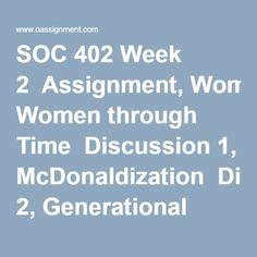 soc 402 week 2 quiz Soc 4soc 402 week 4 quiz purchase here   description multiple choice 10 10 grade details 1 question : which of.
