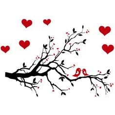 Love Heart Tree Bird Removable Vinyl Wall Decal Sticker Art Mural Home Decor for sale online Removable Vinyl Wall Decals, Wall Decal Sticker, Wall Stickers, Tree Stencil, Stencils, Leaf Cards, Vinyl Gifts, Family Tree Wall, Bird Tree