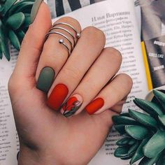 71 Fall Nail Designs to Fall in Love with: Fall Nails to Inspire - Makeup & nail. 71 Fall Nail Designs to Fall i. Dream Nails, Love Nails, My Nails, Best Nails, Stylish Nails, Trendy Nails, Elegant Nails, Jolie Nail Art, Nail Design Glitter