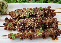 Teriyaki Skewers, Beef Skewers, Teriyaki Sauce, Kabobs, Terriyaki Beef, Marinate Meat, Beef Strips, Asian Beef, Food Cravings