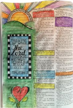 Bible Journaling - This is the day which the Lord has made.