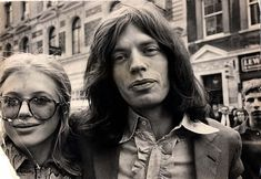 Mick Jagger and Marianne Faithfull in 1969 shortly after they were arrested on drugs charges at their home on Cheyne Walk, Chelsea