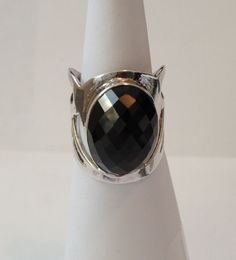 Black onyx ring 925 sterling silver jewellery bobin boutique new adjustable