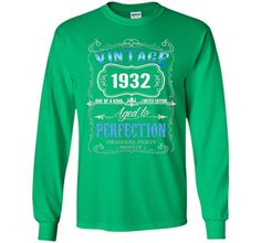 Vintage born in 1932 tshirt 85 Years old birthday