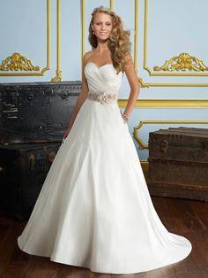 Sweetheart Neckline A Line Wedding Dress