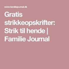 Familie Journal - strikkeopskrifter til hende Charms, Journal, Threading, Journals, Pendants