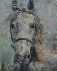 White Horse Painting, Abstract Horse, Tennessee Walking Horse, Appaloosa Horse, Dappled grey horse, Palette knife Painting, Equine Art by CarolDeMumbrumArt on Etsy