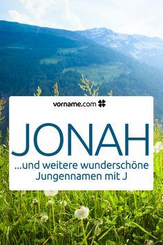 Dir gefällt der Name Jonah? Hier findest Du weitere wunderschöne Vornamen für Jungen, die mit einem J beginnen.