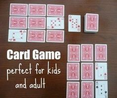 Do you love to play cards? Here is one perfect for kids and adults!
