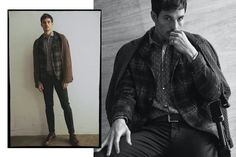 Anthony Gastelier Dons Classic Menswear for Barbati Fall Campaign Anthony Gastelier, Leather Men, Leather Jacket, Brown Bomber Jacket, The Fashionisto, Indie, Campaign, Fall Winter, Menswear