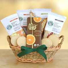 Greet the season with love, laughter and  Starbucks  Love the four varieties of Starbucks coffee: rich French  Roast, smooth Breakfast Blend, soothing House Blend and intense Caffè  Verona.