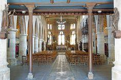 Inside St. Leonard's Church . Honfleur. Normandie