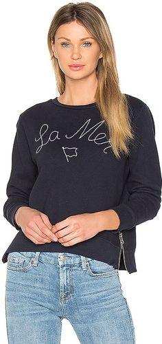 56438f1375e15 Sundry La Mer Sweatshirt Navy Stripes