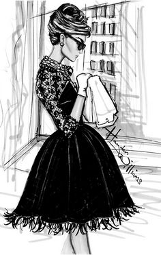 Looks like Audrey got a modern makeover in Oscar De La Renta. I WANT THIS DRESS