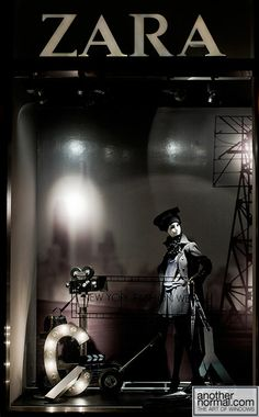 Zara window - light and shadows #millinery #judithm #hats