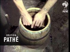 Video of coopering or cooperage (barrel-making).