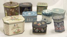 Great storage for cotton balls, hairpins, paper clips, or whatever else you have. This is a fantastic collection of vintage tins.