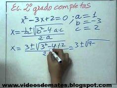 Como explicar ecuaciones de 2º grado = a 0    http://www.youtube.com/watch?v=CCHgTWCceuA