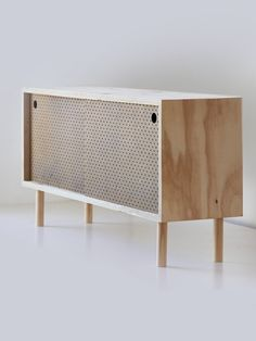 Side board – Ply & brown pegboard - idea for entertainment unit