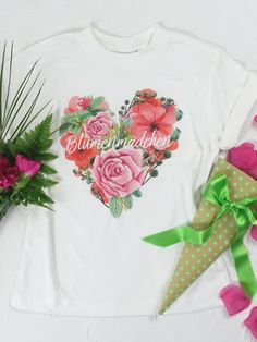 """Clear the stage for the flower girls! Even the little ones want to show that they are an important part of the wedding party. The white round neck T-shirt with the """"Flower Girl"""" print is jus T Shirt Flowers, Flower Shirt, Wedding Rehearsal, Neck T Shirt, Little Ones, Shirts, Casual, Mens Tops, Outfits"""