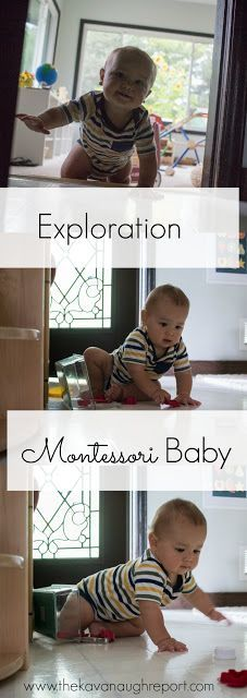 Babies have the need to explore their environment - Montessori thoughts on baby exploration