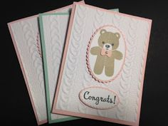 My Creative Corner!: Cookie Cutter Christmas, Baby Card, Stampin' Up!, Rubber Stamping, Handmade Cards