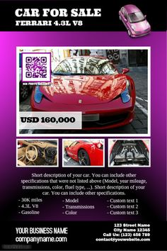Pre made car ad http://www.postermywall.com/index.php/poster/view/86e7769b6f62974d8a1949951b1678c7
