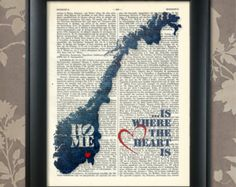 Norway Map Watercolor Norway Map Poster Norway By IPrintPoster - Norway map poster