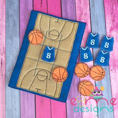 Basketball Tic Tac Toe Embroidery Design - or Larger - E&Me Designs Diy Quiet Books, Baby Quiet Book, Diy Gifts For Kids, Diy For Kids, Tic Tac Toe Game, Tic Toe, Felt Finger Puppets, Preschool Gifts, Toe Designs