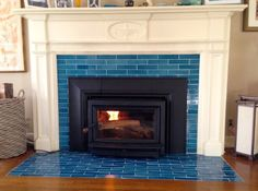 4 Amazing Tricks Can Change Your Life: Fireplace Living Room Wall fireplace tile Craftsman Fireplace shiplap fireplace ideas.Fireplace Screen With Doors. Tile Around Fireplace, Fireplace Tile Surround, Brick Fireplace Makeover, Shiplap Fireplace, Fireplace Hearth, Marble Fireplaces, Fireplace Surrounds, Fireplace Design, Fireplace Ideas
