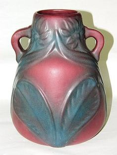 Buy online, view images and see past prices for Van Briggle art pottery double handled vase. Invaluable is the world's largest marketplace for art, antiques, and collectibles. Vintage Pottery, Pottery Art, Art Nouveau, Art Deco, Artist Signatures, Craftsman Style, Visual Arts, Vases, Glass Art