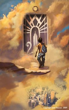 This is so cool>>> reminds me of Percy entering Mount Olympus when he was younger