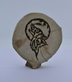 Wooden celtic coaster with a wolf. For mug by ArchdeansMagicShop