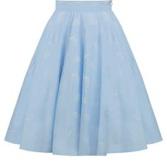 Light blue cotton skirt, retro skirt, circle skirt, pin up skirt, 50s... ($62) ❤ liked on Polyvore featuring skirts, circle skirts, swing skirts, pin up skirt, petticoat skirt and flared skirts