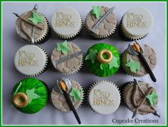 Lord of the Rings Cupcakes. Um, this is TOO cute.