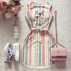 Uploaded by Ãsôsh ❀. Find images and videos about fashion, dresses and فساتين on We Heart It - the app to get lost in what you love. Teen Fashion Outfits, Girly Outfits, Cute Casual Outfits, Pretty Outfits, Pretty Dresses, Stylish Outfits, Dress Outfits, Casual Dresses, Fashion Dresses